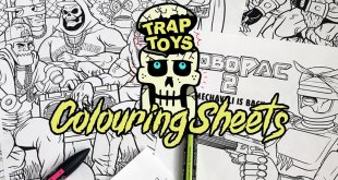 The Toy Chronicle | Trap Toys Colouring Sheets