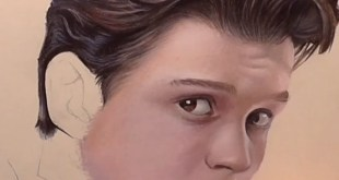 Drawing Tom Holland   . Polychromos colored pencils by  Pablo and lumi...
