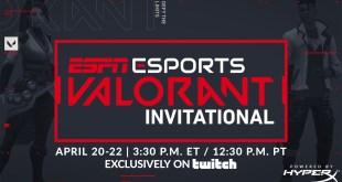 ESPN Will Host The Valorant Invitational On April 20th