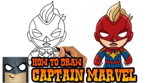 How to Draw Captain Marvel | The Avengers | Step by Step Tutorial