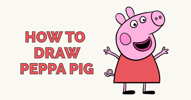How to Draw Peppa Pig  Cartoon Drawings for beginners  Art Tutorial