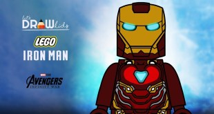 How to draw Lego Iron Man Mark 50 from Marvels Avengers Infinity War