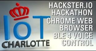 "Charlotte IoT Hackathon Hackster.io live ""Lend Me Your Ears"" Web Bluetooth Voice Recognition"