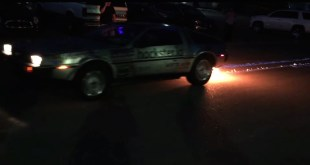 DeLorean with Fire Trail at Hackster.io's #HardwareWeekend by Team #RossumRumblers