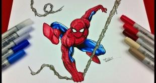 Drawing Spiderman Marvel Comics Video Tutorial