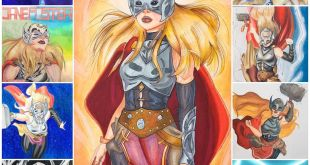 Every completed drawing I've done of Jane Foster Thor. I love his woma...