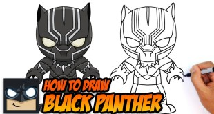 How to Draw Black Panther Marvel Kids Style