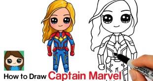 How to Draw Captain Marvel | Avengers Endgame