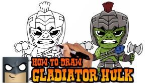 How to Draw Gladiator Hulk | Thor Ragnarok