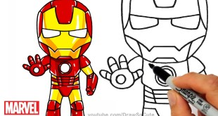 How to Draw Iron Man step by step Chibi Marvel Superhero