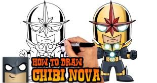 How to Draw Nova - Marvel Comics Super Heroes