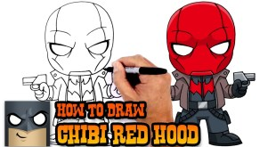 How to Draw Red Hood from DC Comics Chibi Style