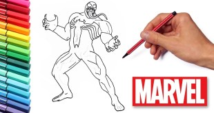 How to Draw Venom - Drawing and Coloring Marvel Heroes for Children