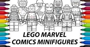How to Draw Lego Marvel Comics - Mini Figures compilation video