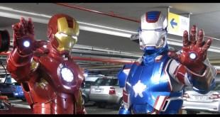 "Iron Man and Iron Patriot Costume/Cosplay ""Oz Comic Con"""