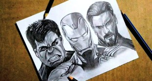Avenger Infinity war drawing marvel super hero's| how to draw | pencil sketch