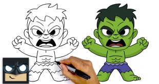 How To Draw Avengers Hulk - Easy Kids Style Video Tutorial