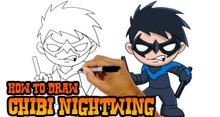 How to Draw Nightwing DC Comics Video Art Tutorial