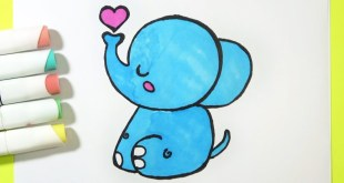 How to Draw a Baby Elephant CUTE - Easy