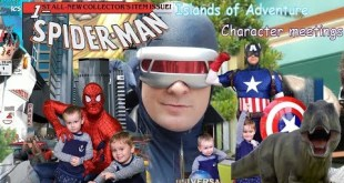 Meeting Captain America, Spiderman, Doctor Doom, Cyclops, Rogue, Storm and Blue Universal IOA