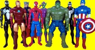 Superhero Marvel toys - Spiderman, Hulk, Iron Man, Thor, Green Goblin, Venom, Black Spiderman
