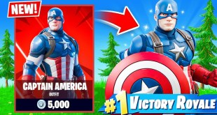 CAPTAIN AMERICA in FORTNITE!