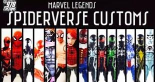 CUSTOM Spiderverse Marvel Legends spider-man action figures