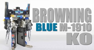 G1 Browning M-1910 KO Blue Version Transformers Masterforce review with stickers