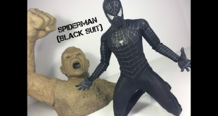 Hot Toys Spiderman 3 Black Suit with Sandman Base Sideshow Collectibles Toy Review