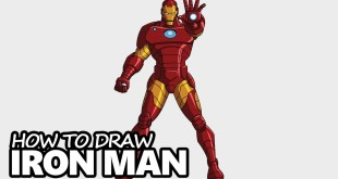 How to Draw Iron Man - Easy Step by Step Drawing Tutorial