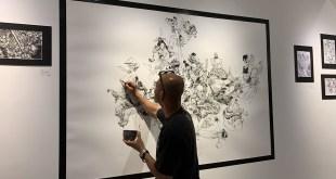 KimJungGi Live Drawing at Kiyoshi Gallery. Roppongi, Tokyo, Japan. #4