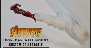 Marvel Legends Iron Man Wall Mount- Quick Custom Collectable!