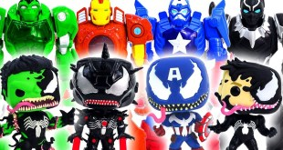 Marvel Toys Super Hero Squad | Super Hero Mech Armor Defeat Symbiote Avengers Venomized #Toymarvel