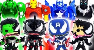 Marvel Toys Super Hero Squad | Super Hero Mech Armor Defeat Symbiote Avengers Venomized #Toymarvel