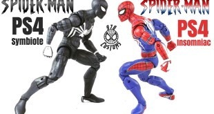 "PS4 Symbiote Spider-Man Custom Marvel Legends Spider-Man 6"" action figure review"