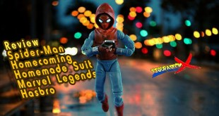 Review Spiderman Homemade Suit Marvel Legends Vulture Flight Gear BAF Hasbro Revision Español