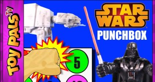 STAR WARS Toys PUNCHBOX SURPRISE CHALLENGE The Force Awakens Video Toypals.tv