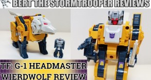 Transformers Generation 1 HEADMASTER WEIRDWOLF (KO) Review! Bert the Stormtrooper Reviews!