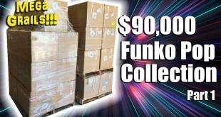 FUNKO POP MEGA GRAIL COLLECTION UNBOXING - $90,000 PPG Value!!! -- Part 1