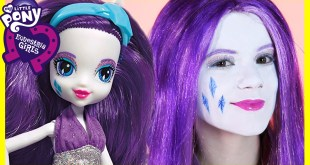 My Little Pony Rarity Makeup Tutorial!  Equestria Girl Doll Cosplay | Kittiesmama