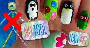 No Tool Nails Tutorial! 5 Nail Art Designs