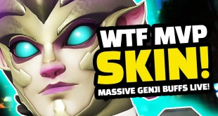 WTF IS THIS SKIN! - MASSIVE Genji BUFFS LIVE! | Overwatch