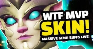 WTF IS THIS SKIN! - MASSIVE Genji BUFFS LIVE! | Overwatch