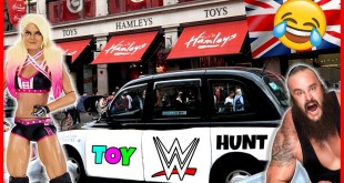 WWE TOY HUNT IN THE WORLD'S MOST FAMOUS TOY SHOP!