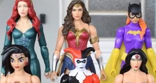 6 Bonecas Mulher Maravilha, Batgirl, Harley Quinn, Mera - Dc Comics