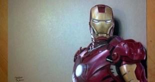 Hyperrealistic Art Drawing: Iron Man MARVEL