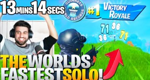I Broke The WORLD RECORD For The FASTEST Solo Win EVER! - Fortnite Battle Royale