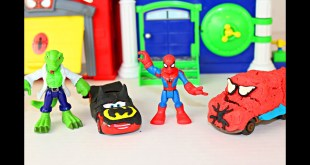 Play Doh Superhero Cars Spider-Man Headquarters Marvel Kids Toys