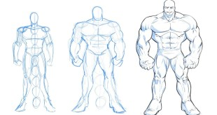 How to Draw A Massive Muscular Comic Book Superhero