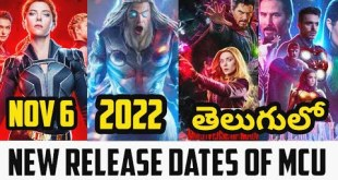 MCU NEW RELEASE DATES OF PHASE4 MOVIES BLACKWIDOW NOV6 THOR-4 2022 TELUGU #McuPhase4Newrelesedates